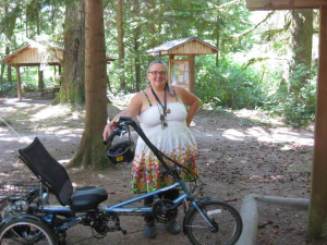 Jean and Tootles the Trike with EcoSpeed mid-drive.